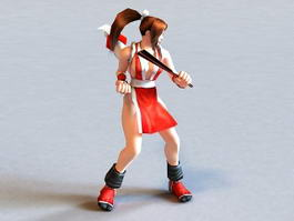 Mai Shiranui Rigged & Animated 3d model