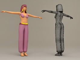Arabian Dance Girl 3d model
