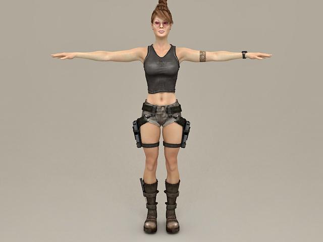 Female Fantasy Adventurer 3d model