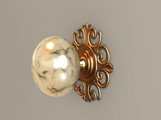Antique Door Knob 3d model
