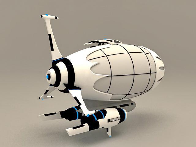 Anime Spaceship 3d model