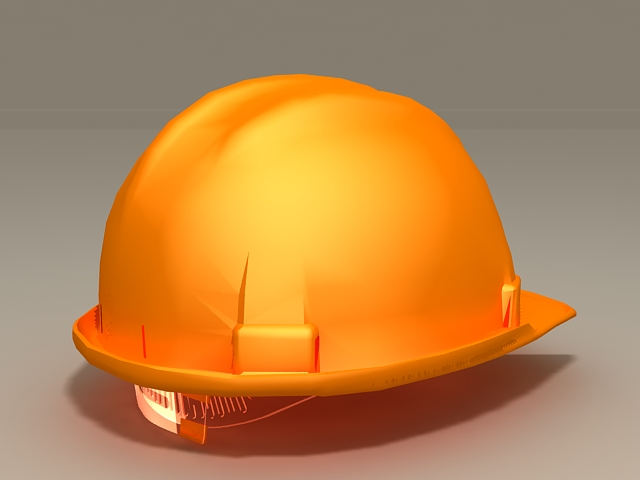 Yellow Hard Hat 3d model