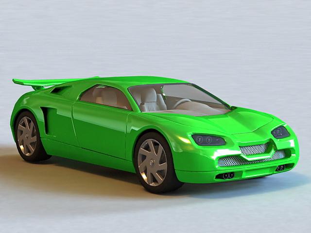 Super Sport Car 3d model