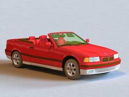 1987 BMW 325I Convertible 3d model