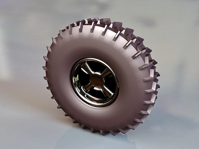 Off Road Tire Wheel 3d Model 3ds Max Files Free Download