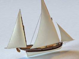 Spanish Clipper Sailing Ship 3d model