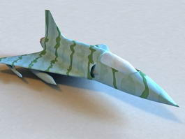 Military Fighter Plane 3d model