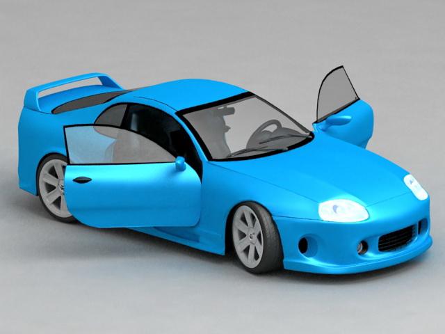 Toyota Supra Turbo 3d model
