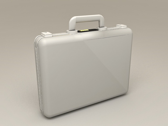 Silver Aluminum Briefcase 3d model