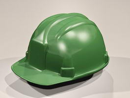 Green Hard Hat 3d model