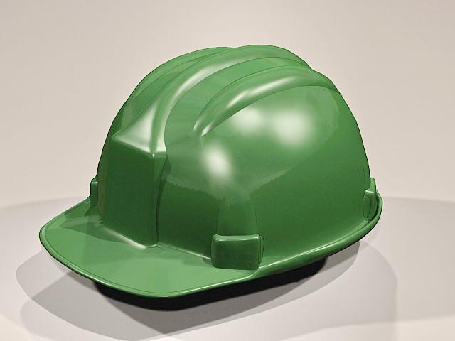 Green Hard Hat 3d model