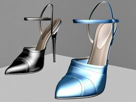 Pointed Toe Court Shoes 3d model