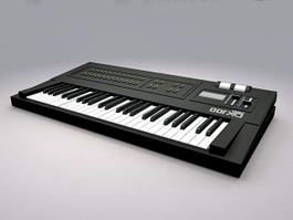Animated Keyboard Instrument 3d model