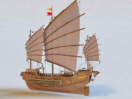 Chinese Sailing Vessel 3d model