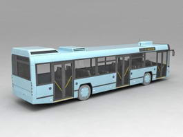 Public Bus Transportation 3d model