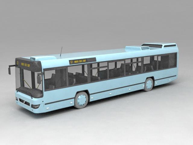 Public Bus Transportation 3d model