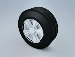Car Wheel and Tire 3d model