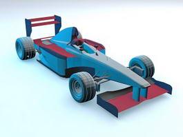 Vintage F1 Car 3d model