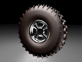 Off-Road Style Wheel 3d model