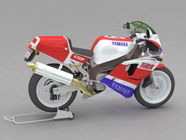 Yamaha YZF750 Sport Bike 3d model
