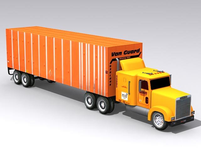 Vanguard Semi-Trailer Truck 3d model