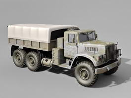 Russian Army Military Kraz Truck 3d model