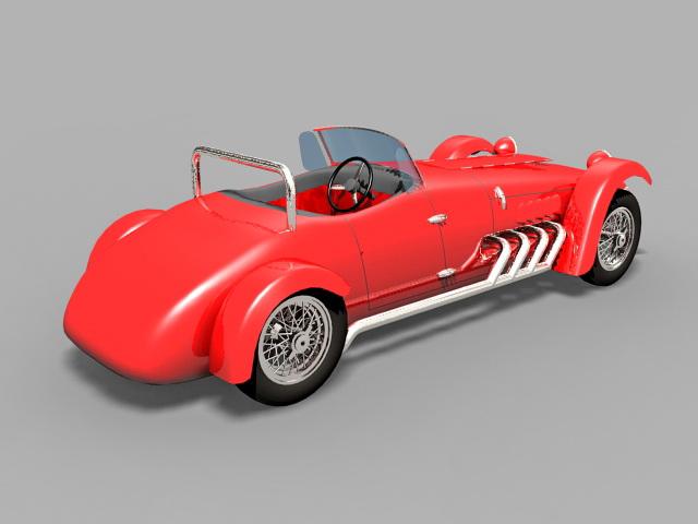 Classic Roadster 3d model