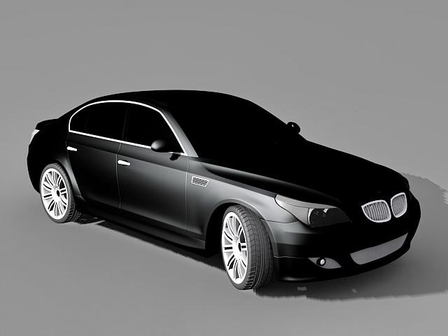 BMW 5 Series Executive Car 3d model