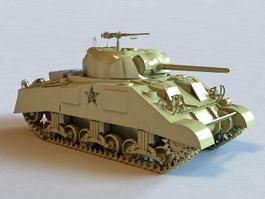 Modern American Tank 3d model