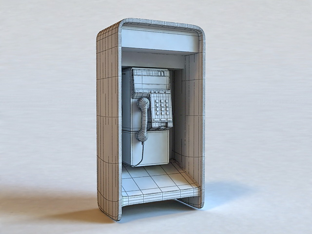 Public Call Box 3d model 3ds Max files free download - modeling