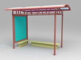 Bus Stop Shelter 3d model