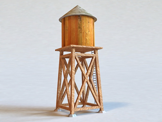 Homemade Water Tower 3d Model 3d Studio Files Free