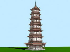 Ancient Chinese Pagoda 3d model
