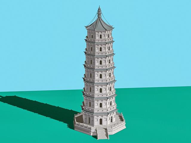 Ancient China Pagoda 3d Model 3ds Max Files Free Download