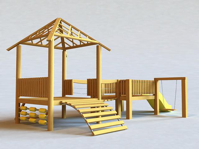 Backyard Playground Sets 3d model