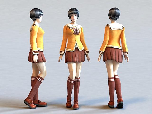 Uptown School Girl 3d model