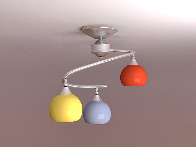 Modern Pendant Light Fixtures 3d model