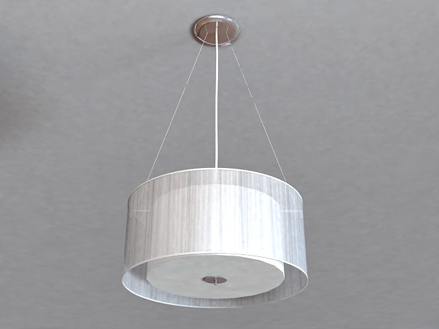 Large Drum Pendant Lighting 3d model
