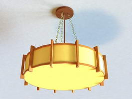 Asian Style Pendant Lighting 3d model