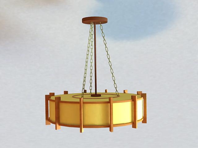 Asian Style Pendant Lighting 3d rendering