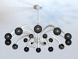 Bubble Ball Chandelier 3d model