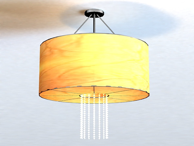 Vintage Drum Pendant Light 3d model