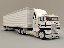 Box Truck Container 3d model