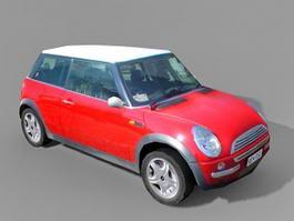 Red Mini Cooper 3d model