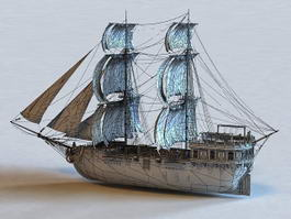 Sailing Warship 3d model