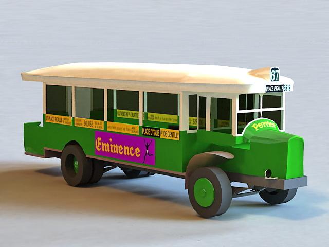 Vintage School Bus 3d model