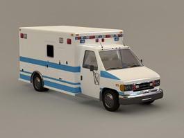 Hospital Ambulance 3d model