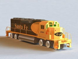 Santa Fe Locomotive Roster 3d model