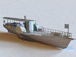 Small Pleasure Boat 3d model