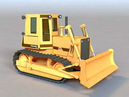 Construction Bulldozer 3d model